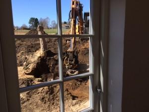 Der graves ud til en ny terrasse