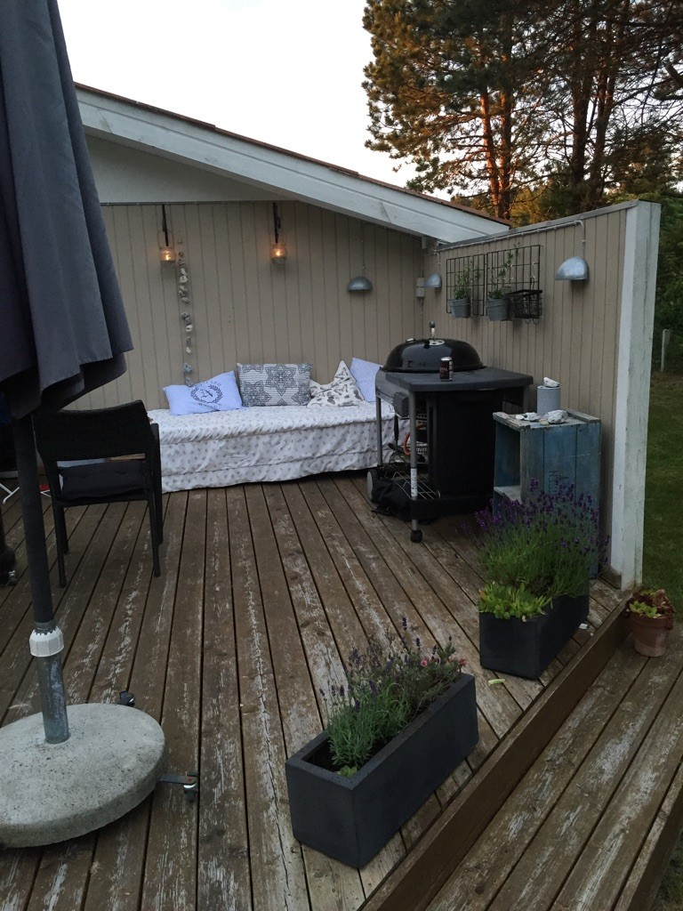 Mit hyggehjørne på terrassen